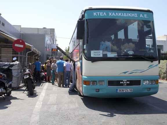 Автобусы в Халкидики