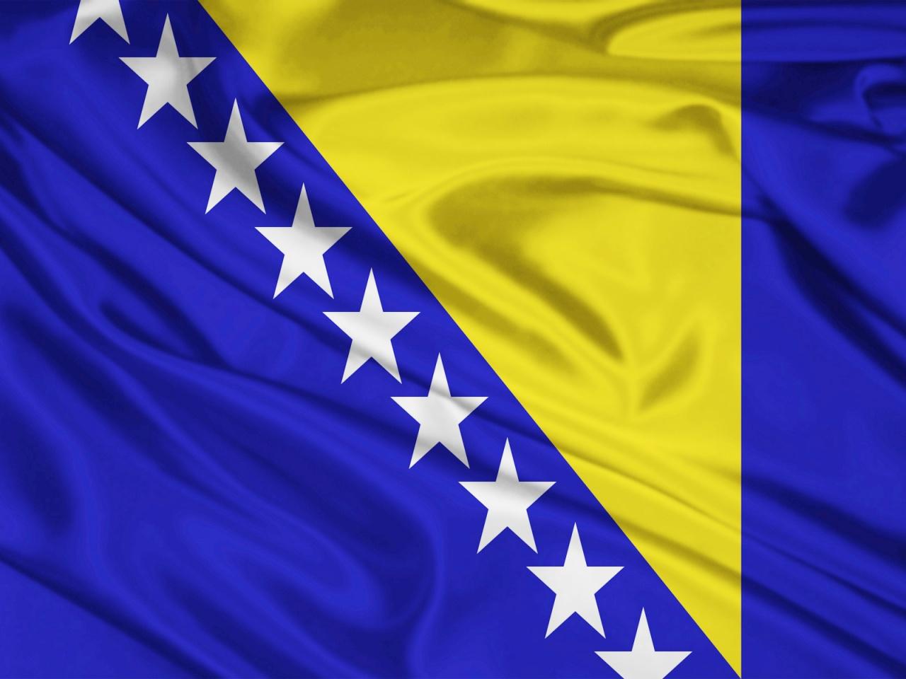 фото флаг босния и герцеговина