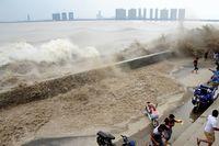 Огромная приливная волна в Ханчжоу