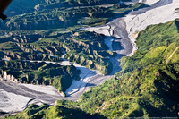 Полет над кратером вулкана Пинатубо