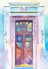 Украинская художница путешествует по миру, расписывая двери акварелью