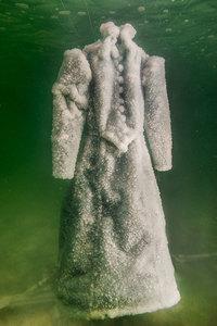 Платье на 2 года погрузили в Мертвое море, и оно превратилась в кристалл соли