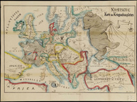 9 провокационных старинных карт Европы «в лицах» о том, как люди видели наш мир