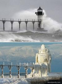 10 поразительных фото «до и после» о волшебных превращениях, на которые способна зима