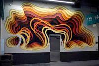Немецкий художник расписывает здания оптическими иллюзиями, похожими на 3D-порталы