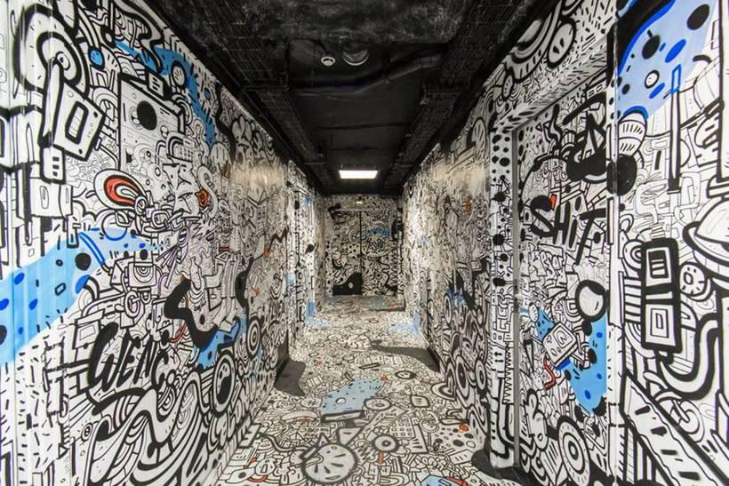 Студенческое общежитие Парижа превратилось в площадку для стрит-арта