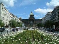 Вацлавская площадь весной