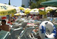 Аквапарк Акваленд в Анталии: все лежаки забиты.