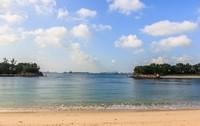Пляж на острове Сентоза