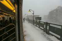 Первый снегопад в Нью-Йорке