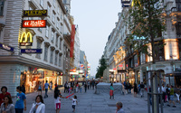 Вена, прогулка по пешеходной улице
