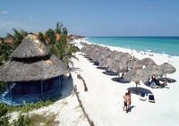 Вот такие живописные пляжи в Варадеро