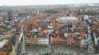 Вид на Брюгге с колокольни