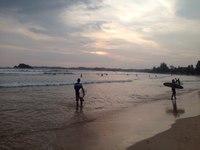 вечерний закат на Шри-Ланке