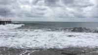 Картина пляжа в ноябре