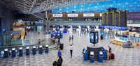 Аэропорт в городе Хельсинки, Финляндия