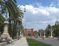 Триумфальная арка. На улицах Барселоны