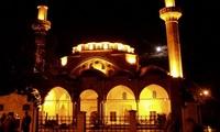 Евпатория: мечеть Джума-Джами вечером