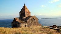 Храм на озере Севан