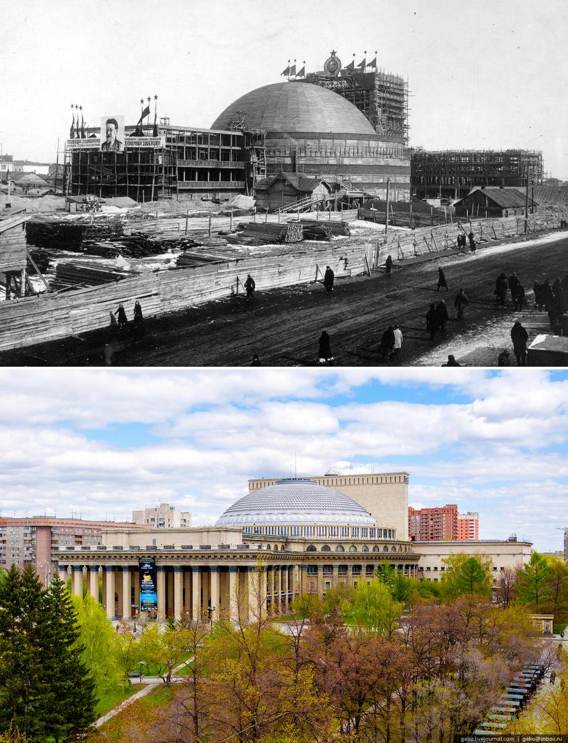 Новосибирск раньше и сейчас фото