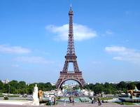 Где стоит эйфелева башня