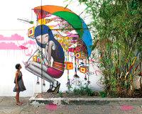 Французский уличный художник превращает скучные здания по всему миру в произведения искусства