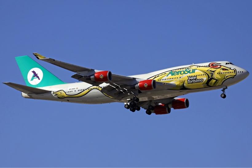 Боливия Многонациональное Государство Боливия. AeroSur Boeing 747 400 Heisterkamp