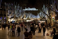 Ла Рамбла в январе, Барса