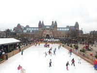 Ледовый каток в Амстердаме