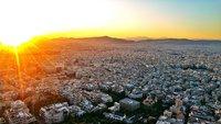 Закат на горе Ликабетус, Афины