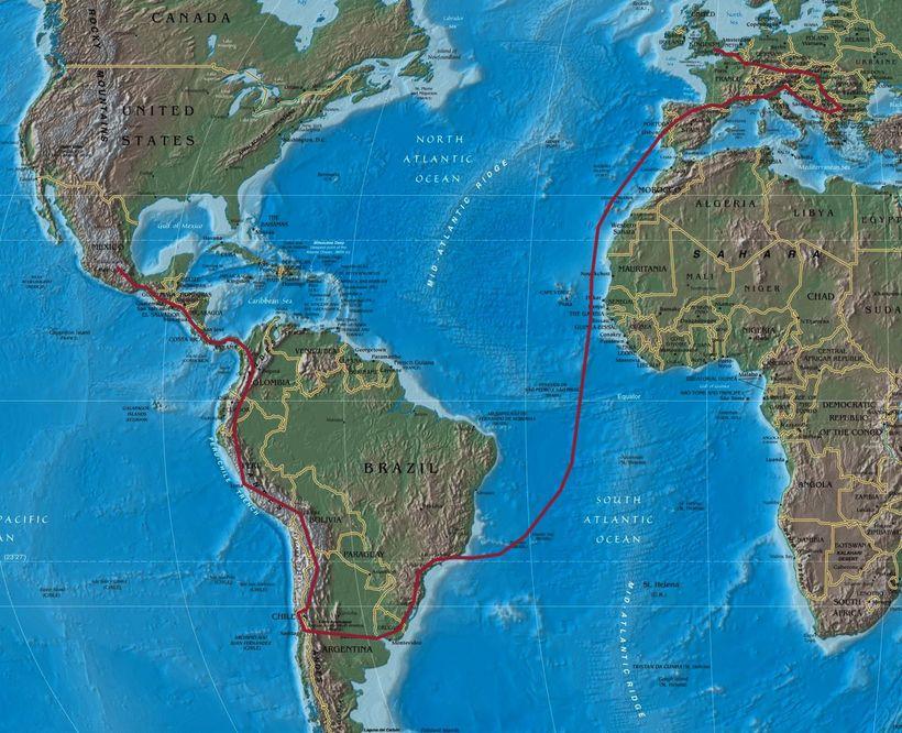 картинки карты атлантического океана вместе
