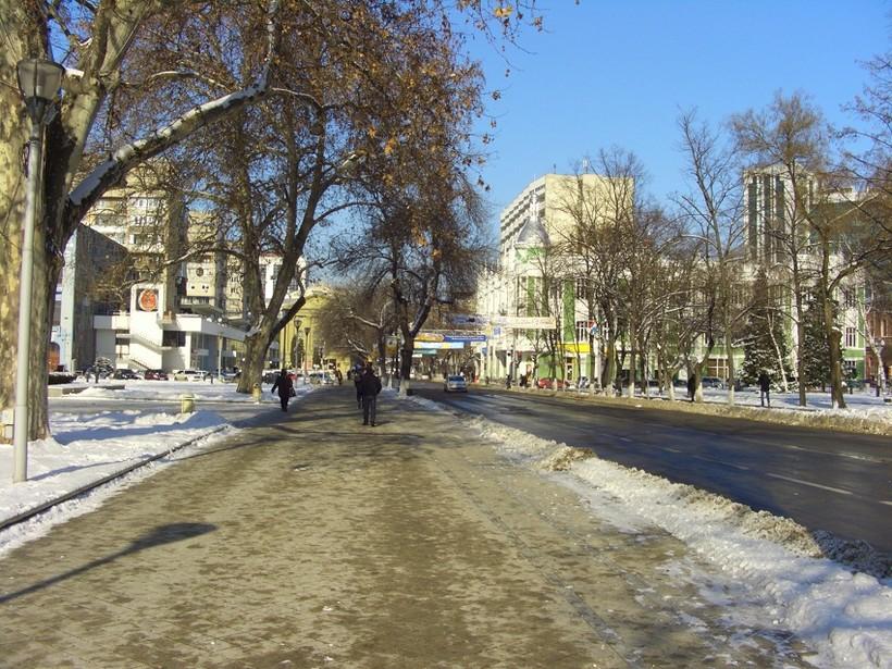 Зима в Краснодаре в январе
