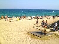 Барселона: пляж Нова Мар Белла