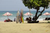 Пляж на Бали. Июль.