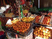 Продажа мандаринов на рынке Адлера в феврале