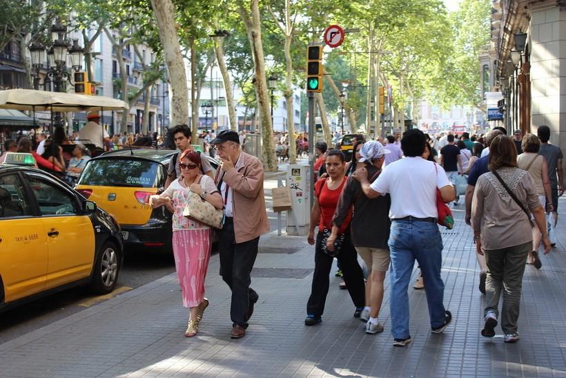 Испания, февраль в Барселоне