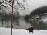 Озеро Рица в январе