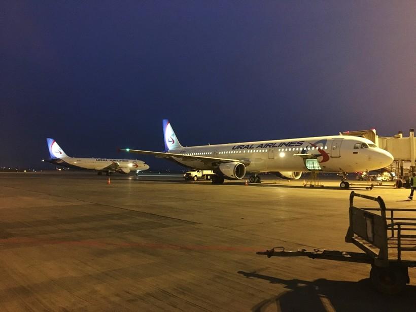 Самолёты авиакомпании Уральские авиалинии в аэропорту
