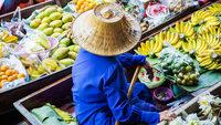 Таиланд: первое знакомство с плавучим рынком в Бангкоке