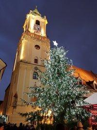 Новогодняя елка в Братиславе, январь 2018