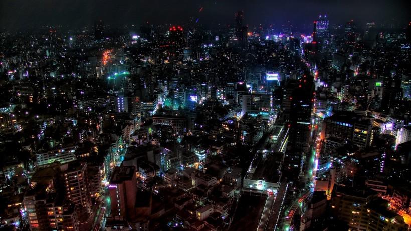 Июльское Токио ночью