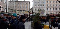 Рождественский рынок в Зальцбурге, декабрь 2018