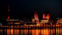 Баку ночью
