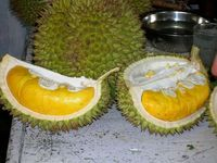 Февральский дуриан в разрезе. Рынок Бали.