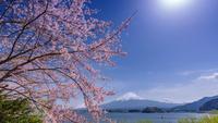 Гора Фудзи издали