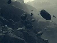 Камнепад на горе