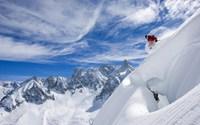 Альпинист в Альпах