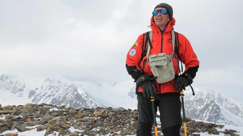 Альпинист при восхождении