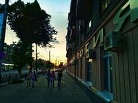 Обычная улица Иркутска вечером