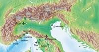 Доломитовые Альпы на карте